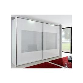 image-Rauch Xtend Sliding Wardrobe with Frame-2 Wave Glass