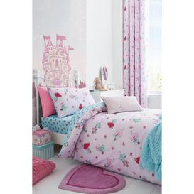 image-Fairies Pink Reversible Duvet Set