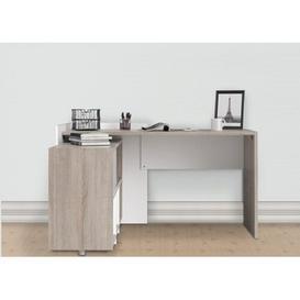 image-Taki Laminate L-Shape Secretary Desk Mercury Row Size: 80cm H x 140cm W x 120cm D