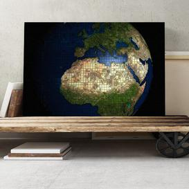 image-Globe World Map Graphic Art on Canvas Big Box Art Size: 35cm H x 50cm W