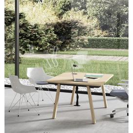 image-Marquita Writing Desk Ebern Designs Size: 75cm H x 200cm W x 100cm D