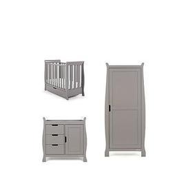 image-Obaby Stamford Space Saver Sleigh 3-Piece Nursery Room Set