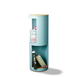 image-Runda Corner Bookcase rund:Stil Colour: Light Green/Beige