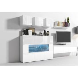 "image-Entertainment Unit for TVs up to 60"" Ebern Designs Colour: White Matt Body/Front White Gloss"