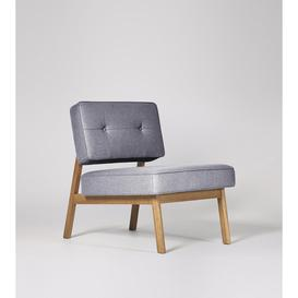 image-Swoon Aron Armchair in Anthracite Smart Wool With Light Feet