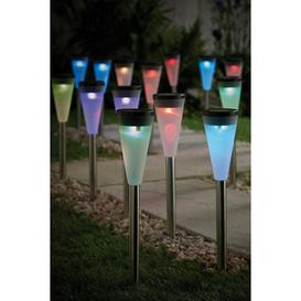image-Pack of 20 Solar Colour Changing Lights