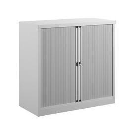 image-Bisley Economy Tambour Cupboard, 100wx47dx102h (cm), White