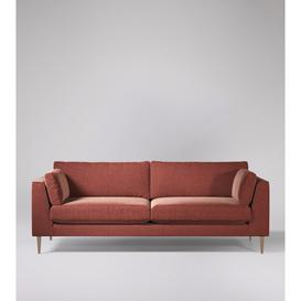 image-Swoon Nero Four-Seater Sofa in Pimpernel Smart Wool With Light Feet
