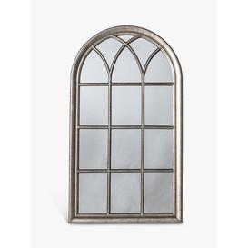 image-Seaforth Arched Window Wall Mirror, 140 x 80cm, Silver