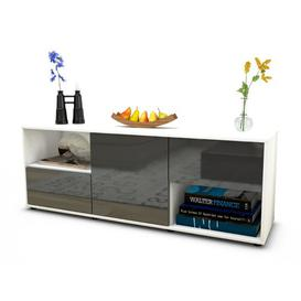 """image-Wurth TV Stand for TVs up to 39\"""" Brayden Studio Colour: High-gloss Grey / Matte White"""