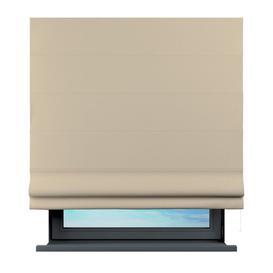 image-Sama Semi-Sheer Roman Blind Brayden Studio Size: 100 cm L x 120 cm W, Finish: Beige