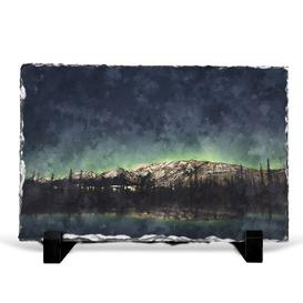image-Northern Lights over in Canada Painting Decorative Slate