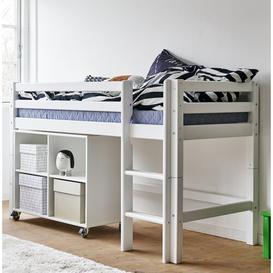 image-Basic Loft Bed Hoppekids Lying surface: 90cm W x 200cm L, Bed frame colour: White