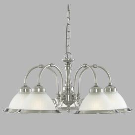 image-Arnott 5-Light Shaded Chandelier Three Posts Finish: Satin Silver