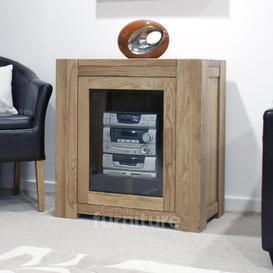 image-Trend Oak Glazed Hi-Fi Unit