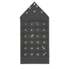 image-Star Advent calendar - / Fabric - 24 days / L 50 x H 100 cm by Ferm Living Dark green