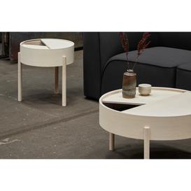 image-Arc Coffee Table With Storage 66 cm , Natural Oak