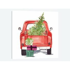 image-'Christmas Cars III' by Jennifer Paxton Parker Graphic Art Print on Wrapped Canvas Urban Designs