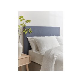 image-Indigo Washed Linen Replacement Headboard Cover - Kingsize