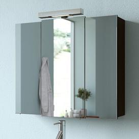 image-Mainz 68 x 73cm Mirrored Bathroom Cabinet Quickset