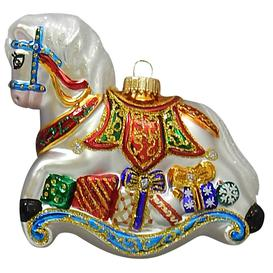 image-Rocking Horse Hanging Figurine Ornament