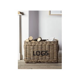 image-Large Rattan Log Basket