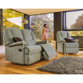 image-Sherborne Milburn Standard 2 Seater Fabric Rechargeable Power Recliner Sofa