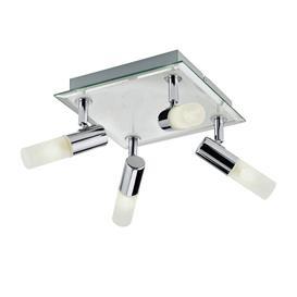 image-Argos Home Milano 4 Light Square Bathroom Spotlight - Chrome