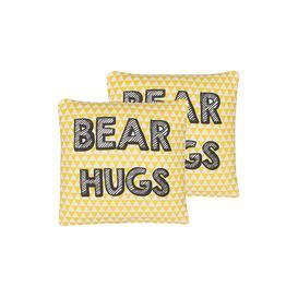 image-Set Of 2 Kids Cushions Print 40 X 40 Cm Yellow Locksley