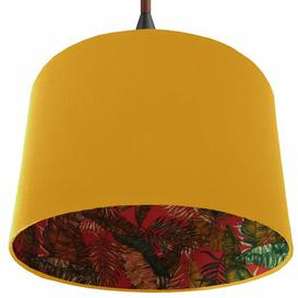 image-Cotton Drum Lamp Shade Brayden Studio Colour: Yellow, Size: 24cm H x 40cm W x 40cm D