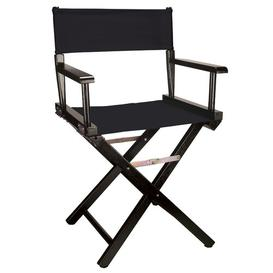 image-Lydell Folding Director Chair Dakota Fields Colour (Fabric): Black, Colour (Frame): Black