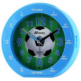image-Football Childrens Alarm Clock Ravel Finish: Blue