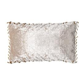 image-Contreras Bling Oblong Crushed Velvet Cushion with Filling Rosdorf Park Colour: Mink