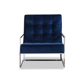 image-Liang & Eimil Nova Occasional Chair Kaster Marine Blue Velvet