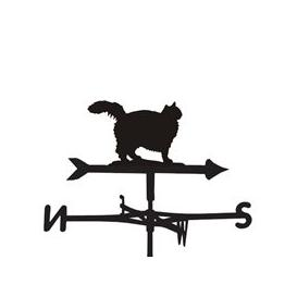 image-Weathervane in Fluffy Cat Design - Large (Traditional)
