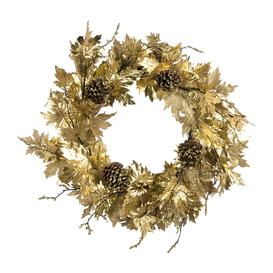 image-A by AMARA Christmas - Maple Leaf Wreath - Gold