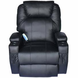 image-Thile Cinema Massage Rocking Swivel Heated Nursing Gaming Chair Recliner Mercury Row Colour: Black