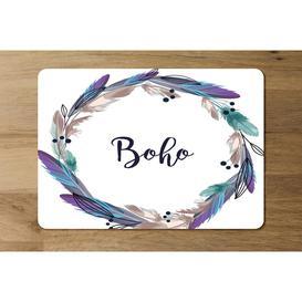 image-Mulvihill Boho Style Wreath Feathers Cork Placemat