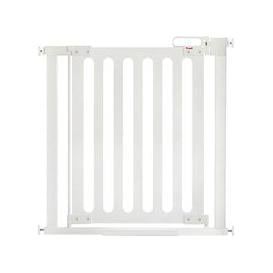image-Fred Pressure Fit White Wood Safety Gate