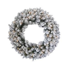 """image-""""24"""""""" Iceland Fir Wreath Green"""""""