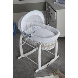 image-Over The Moon White Wicker Moses Basket