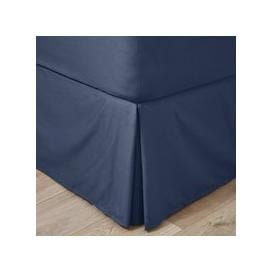 image-Easycare 100% Cotton 180 Thread Count Navy Valance Navy