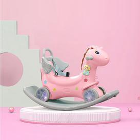 image-Brookdale Rocking Horse Freeport Park Colour: Pink