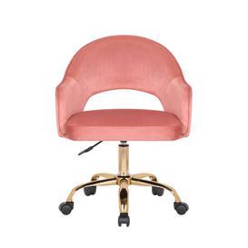 image-Neumann Ergonomic Desk Chair Blue Elephant Upholstery Colour: Rose