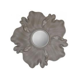 image-Fermo Light Taupe Flower Sunburst Wall Mirror - 118.5cm x 6.5cm