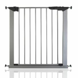 image-Bella Vista Pressure Mounted Pet Gate Archie & Oscar Colour: Silver, Size: 75cm-79cm
