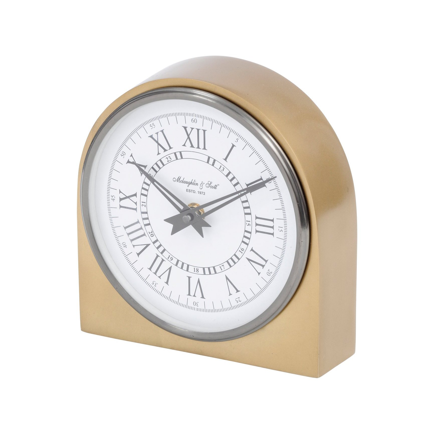 image-Libra Lexington Arched Brass Table Clock