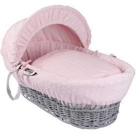 image-Marshmallow Moses Basket Clair De Lune Colour: Pink