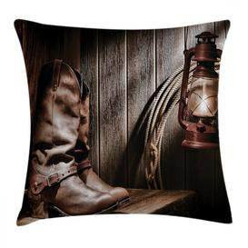 image-Humza Western Cowboys Bench Outdoor Cushion Cover Ebern Designs Size: 60cm H x 60cm W