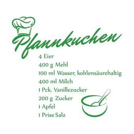 image-Pancake Recipe Wall Sticker East Urban Home Colour: Light green, Size: 40 cm H x 44 cm W